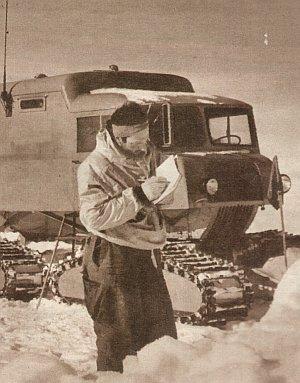 Peter Schöck bei seiner Antarktisexpedition