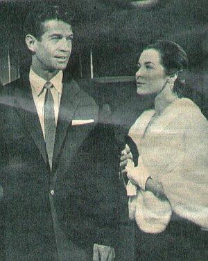 George Nader mit Marianne Koch
