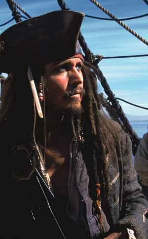 Johnny Depp in: Fluch der Karibik