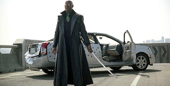 "Laurence Fishburne in ""Matrix Reloaded"" (2003)"