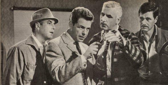 Der Rächer, Heinz Drache,  Friedrich Schoenfelder, Franz-Otto Krüger, Rainer Penkert, (Quer) 1960