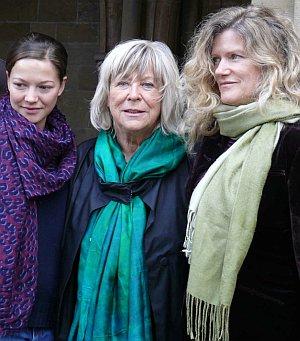 Margarethe von Trotta mit ihren beiden Hauptdarstellerinnen