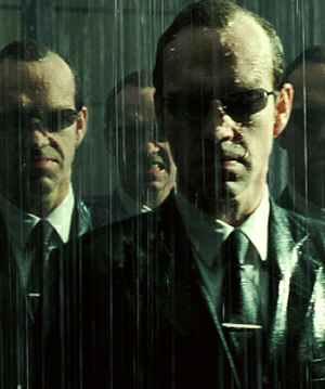Hugo Weaving im Kampf gegen Neo: Matrix Revolutions