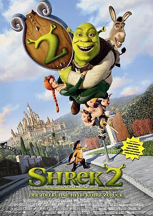 Filmplakat zu Shrek 2 - Der tollkühne Held kehrt zurück