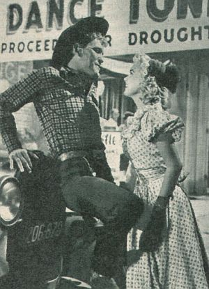 "Earl Holliman, Yvonne Lime in ""Der Regemacher"""