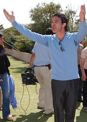 Hat selbst zwei Samtpfoten: Antonio Banderas