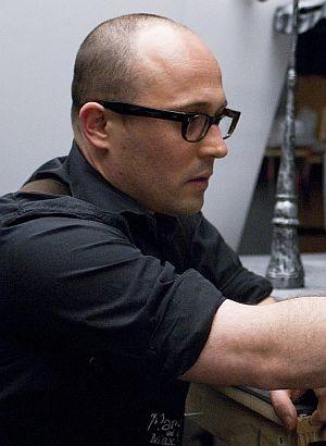 """Regisseur Adam Elliot am Set von """"Mary & Max oder schrumpfen Schafe, wenn es regnet?"""""""