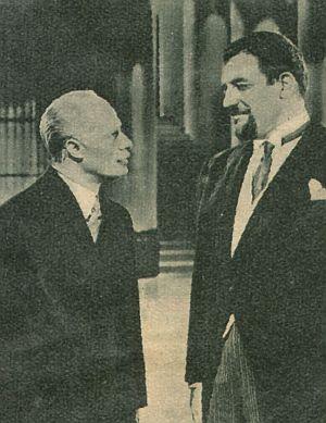 "Henry (Don Ameche) im ""Hotel"" des Teufels (Laird Cregar)"