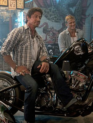 """Sylvester Stallone und Dolph Lundgren in """"The Expendables"""""""