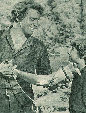 "Burt Lancaster und Donald McDonald in ""Der Mann aus Kentucky"""