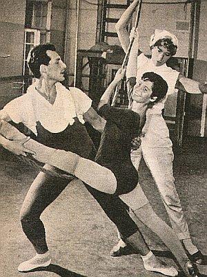 Judith Dornys beim Ballettunterricht