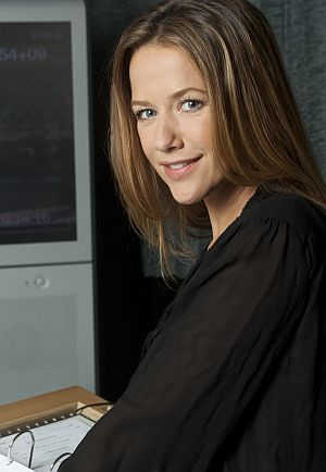 Alexandra Neldel im Synchronstudio