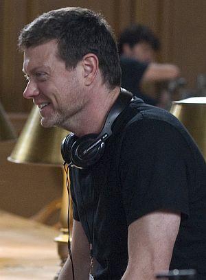 """George Nolfi am Set von """"Der Plan"""""""