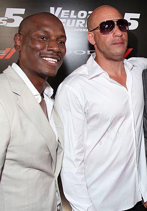 """Vin Diesel und Tyrese auf der """"Fast & Furious Five""""-Premiere"""