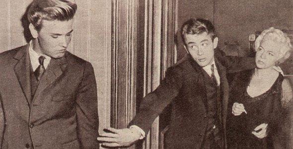 Film und Frau 1955 - Heft 14 - Jahrgang 07 - S. 5 - Jenseits von Eden - James Dean, Elia Kazan, Richard Davalos, Raymond Massey (Quer)