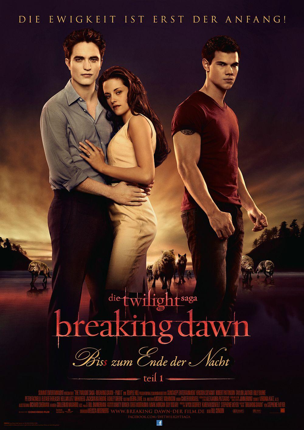 Filmplakat zu Twilight Saga: Breaking Dawn - Bis(s) zum Ende der Nacht (Teil 1)
