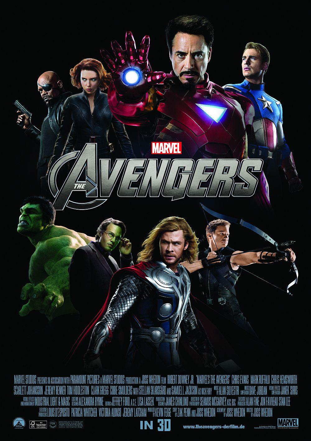 Filmplakat zu Marvel's The Avengers (3D)