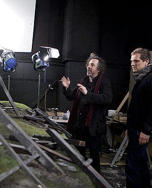 """Künstler unter sich: """"Frankenweenie""""-Regisseur Tim Burton und Kameramann Peter Sorg"""