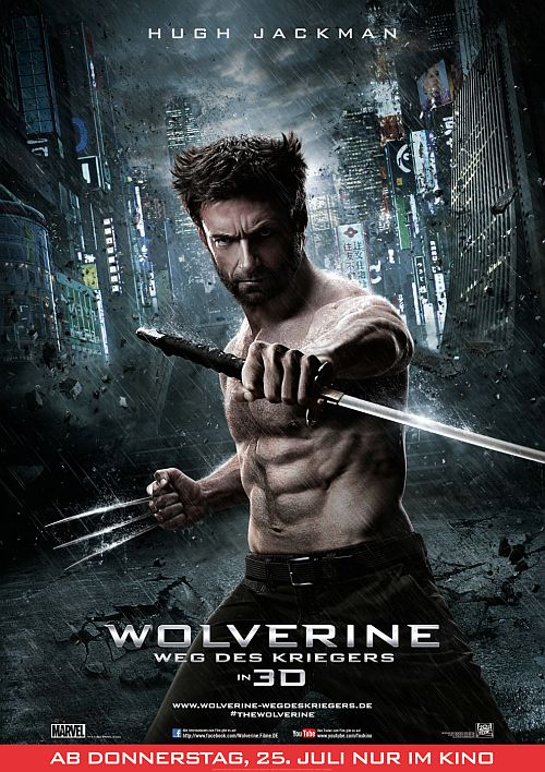 Filmplakat zu Wolverine: Weg des Kriegers 3D