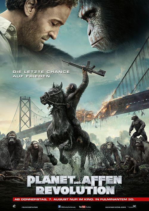 Filmplakat zu Planet der Affen - Revolution 3D