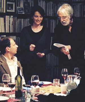 """Haneke mit Juliette Binoche am Set von """"Caché"""""""