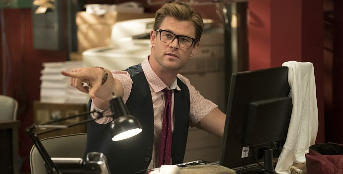 "Chris Hemsworth in ""Ghostbusters"" (2016)"