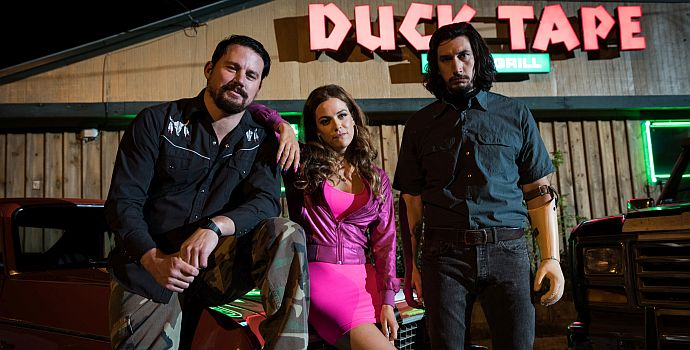 "Channing Tatum, Riley Keough & Adam Driver in ""Logan Lucky"" (2017)"
