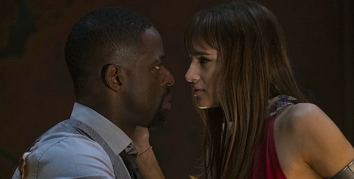 "Sterling K. Brown & Sofia Boutella in ""Hotel Artemis"" (2018)"