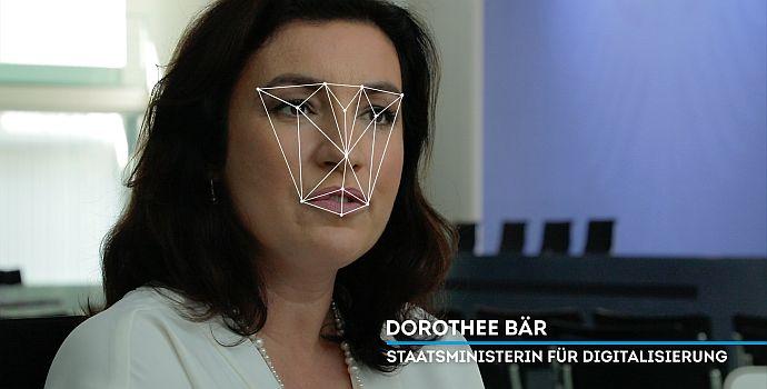 """Ministerin Dorothee Bär in """"Face_it!"""" (2019)"""