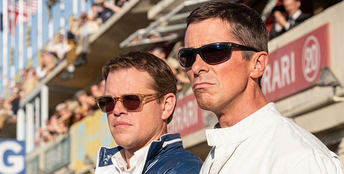"""Matt Damon & Christian Bale in """"Le Mans 66 - Gegen jede Chance"""" (""""Ford v. Ferrari"""", 2019)"""