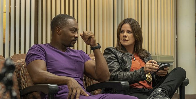 "Anthony Mackie & Marcia Gay Harden in ""Point Blank"" (2019)"