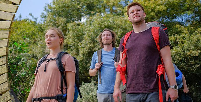 "Florence Pugh, Vilhelm Blomgren & Jack Reynor in ""Midsommar"" (2019)"
