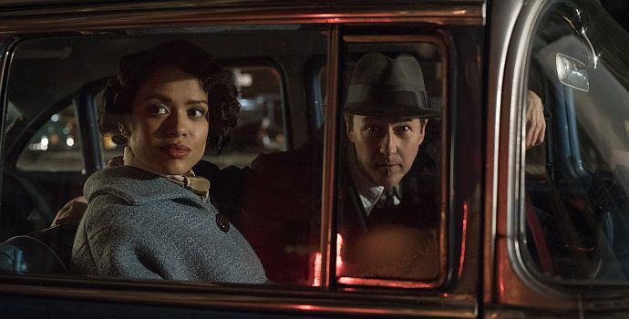 """Gugu Mbatha-Raw & Edward Norton in """"Motherless Brooklyn"""" (2019)"""