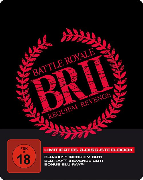 Blu-ray Cover zu Battle Royale II - 3-Disc Blu-ray SteelBook (2x Blu-ray + Bonus-Blu-ray)