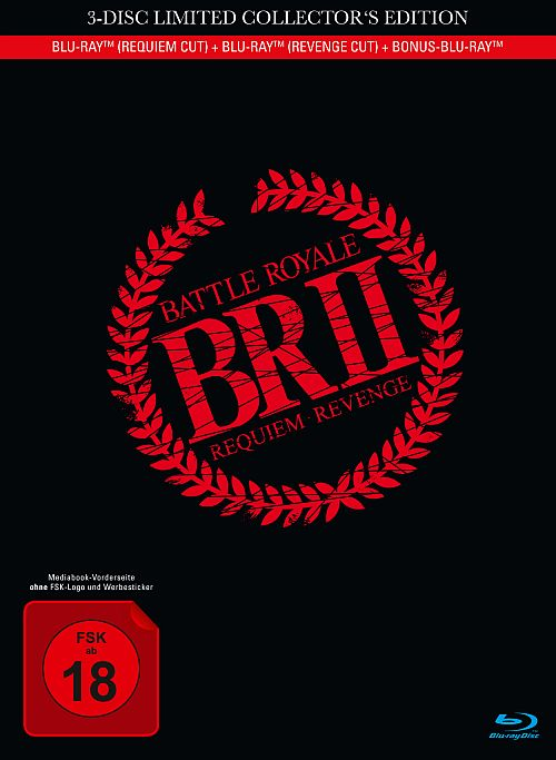 Blu-ray Cover zu Battle Royale II - 3-Disc Limited Collector's Edition im Mediabook (2x Blu-ray + Bonus-Blu-ray)