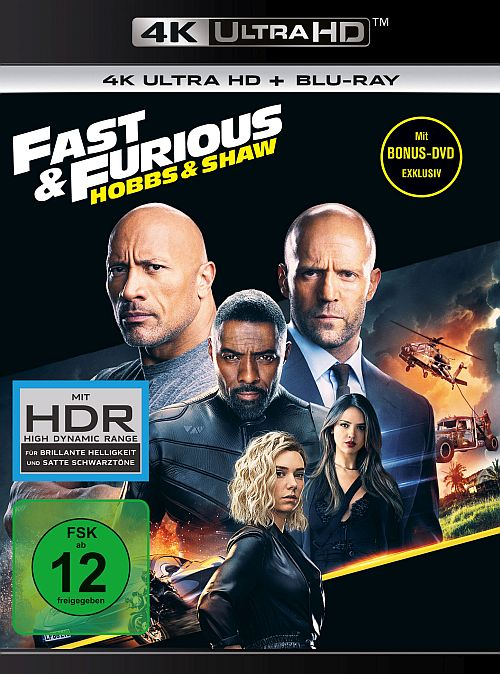 4K Ultra-HD Blu-ray Cover zu Fast & Furious: Hobbs & Shaw (4K Ultra HD + Blu-ray)