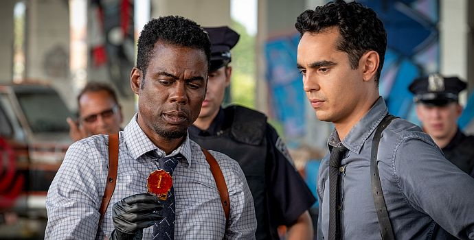 """Chris Rock & Max Minghella in """"Saw: Spiral"""" (Spiral: The Book of Saw, 2019)"""