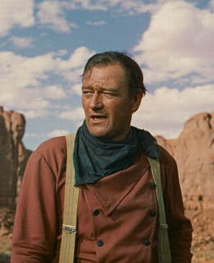John Wayne in: Der schwarze Falke