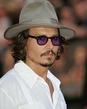 Johnny Depp auf der Londoner Premiere von Fluch der Karibik 2