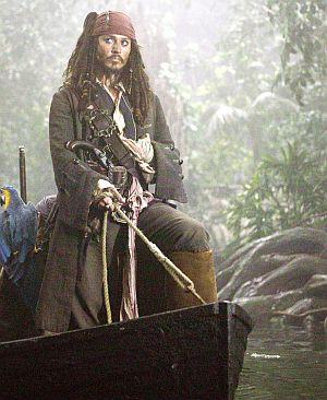 Johnny Depp in: Pirates of the Caribbean - Fluch der Karibik 2