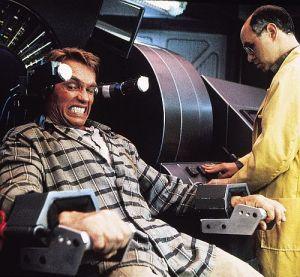 "Arnold Schwarzenegger in ""Die totale Erinnerung"" (""Total Recall"", 1990)"