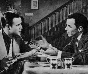 Marlon Brando mit Gesangskollege Frank Sinatra.