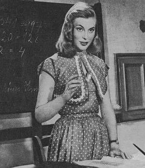 Marianne Hold als schöne Lehrerin