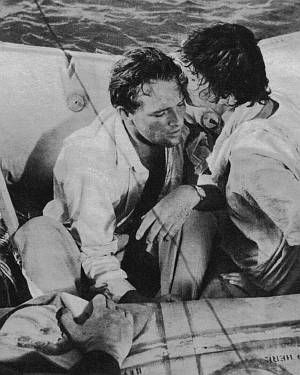 "Joan Collins und Richard Burton in ""Sea Wife""."