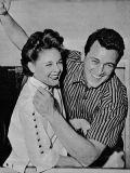 Rock Hudson während seiner dreijährigen Ehe mit Phyllis Gates.