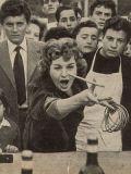 Die Italienierin mit ihren Landsleuten beim Spiel