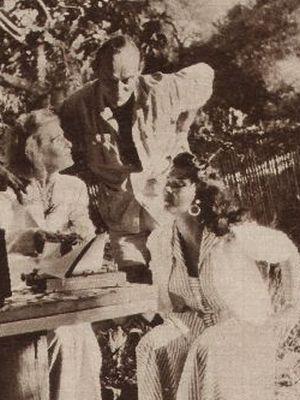 Lilian Harvey mit Werner Stammer und seiner Frau Lisa