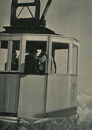Renate Müller in der Zugspitzbahn