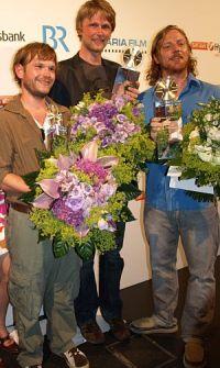 Die Presiträger des Förderpreises Deutscher Film 2008: Markus Tomczyk, Heiko Martens und Timo Müller