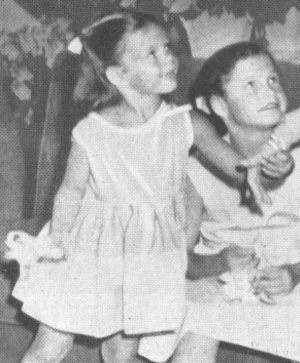 Rita Hayworths Kinder Jasmin und Rebecca